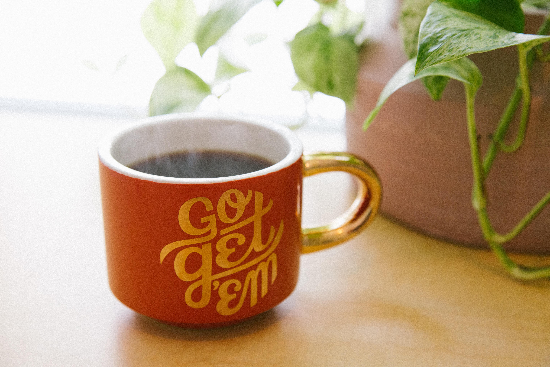 """""""go get 'em"""" coffee mug"""