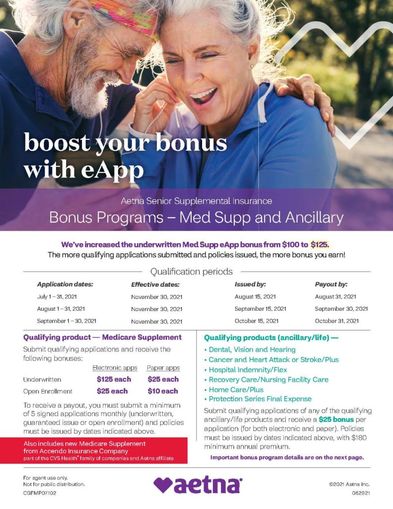 Aetna 3rd Quarter Incentive Program Flyer